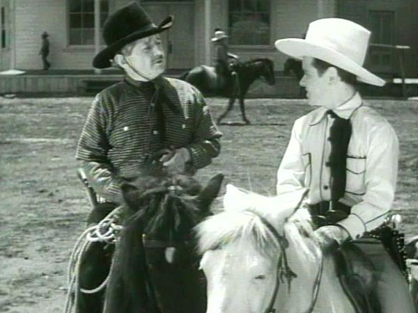 Midget sherrif in a western movie